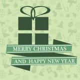 Kartka bożonarodzeniowa z Xmas dekoracjami Obraz Stock