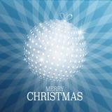 Kartka Bożonarodzeniowa z Xmas piłką ilustracja wektor