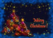 Kartka bożonarodzeniowa Zdjęcia Stock