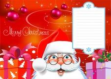 Kartka Bożonarodzeniowa. Obrazy Stock