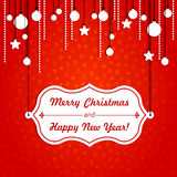 Kartka bożonarodzeniowa Obraz Stock