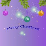 Kartka bożonarodzeniowa z powitanie tekstem Fotografia Stock