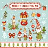 Kartka bożonarodzeniowa z textbox Obraz Stock