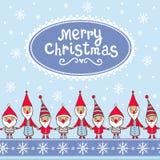 Kartka bożonarodzeniowa z textbox Obrazy Royalty Free
