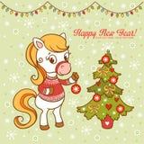 Kartka bożonarodzeniowa z textbox Zdjęcia Royalty Free