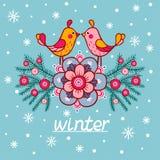 Kartka bożonarodzeniowa z textbox Obraz Royalty Free