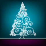 Kartka bożonarodzeniowa retro Szablon. EPS 8 Zdjęcie Royalty Free