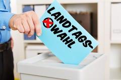 Kartka do głosowania dla dnia wyborów obrazy royalty free