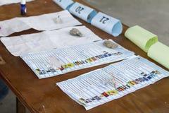 Kartka do głosowania w Wschodnich Timorese wyborach obraz royalty free