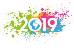 2019 kartka z pozdrowieniami ilustracji