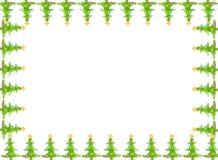 Kartka z pozdrowieniami bożenarodzeniowa granica Obrazy Royalty Free