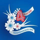 Kartka z pozdrowieniami dla dnia niepodległości ilustracji