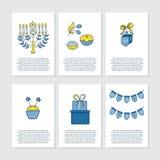 Kartka z pozdrowieniami dla Hanukkah Fotografia Stock