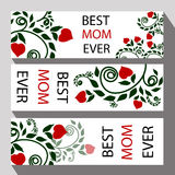 Kartka z pozdrowieniami dla matki mamy lub dnia gratulacj dla iść Zdjęcia Stock