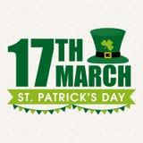 Kartka z pozdrowieniami dla st Patrick dnia świętowania Obraz Stock
