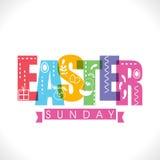 Kartka z pozdrowieniami dla Wielkanocnej Niedziela świętowania Obrazy Royalty Free