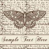 Kartka z pozdrowieniami. Motyle. Piękna rama. Obrazy Royalty Free