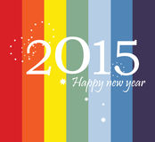 2015 kartka z pozdrowieniami Płaski projekt Obrazy Stock