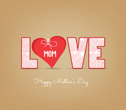 Kartka z pozdrowieniami projekt dla matka dnia Fotografia Royalty Free