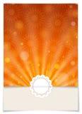 Kartka Z Pozdrowieniami projekt, szablon Obrazy Stock