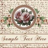 Kartka z pozdrowieniami. Róże. Piękna rama. Obrazy Stock