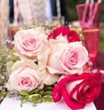 Kartka z pozdrowieniami - róże - bukiet róże - nostalgia Obraz Stock