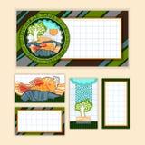 Kartka Z Pozdrowieniami set ilustracji
