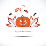 Kartka z pozdrowieniami Szczęśliwy Halloween Fotografia Stock