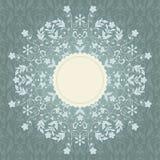 Koronkowa zaproszenie karta z abstrakcjonistycznym kwiecistym backgrou Obraz Royalty Free