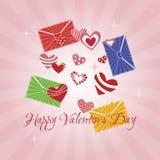 Kartka Z Pozdrowieniami walentynki s Szczęśliwy dzień Fotografia Stock