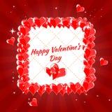 Kartka Z Pozdrowieniami walentynki s Szczęśliwy dzień, serca, Obraz Royalty Free