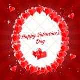 Kartka Z Pozdrowieniami walentynki s Szczęśliwy dzień, serca, Obraz Stock