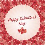 Kartka Z Pozdrowieniami walentynki Szczęśliwy dzień, serca, Fotografia Stock