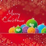 Kartka z pozdrowieniami wesoło cristmas Zdjęcia Stock