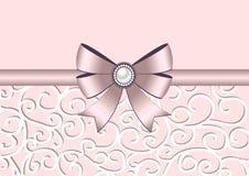Kartka z pozdrowieniami z łękiem i ornamentem Obraz Stock