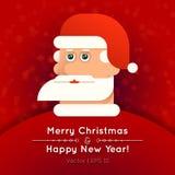 Kartka z pozdrowieniami z Święty Mikołaj wektoru ilustracją Fotografia Stock