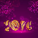 Kartka z pozdrowieniami z eleganckim tekstem dla Szczęśliwego nowego roku Fotografia Royalty Free