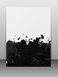 Kartka z pozdrowieniami z farb pluśnięciami. Obrazy Stock