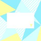 Kartka z pozdrowieniami z geometrycznym tłem i miejsce dla twój teksta Obrazy Stock
