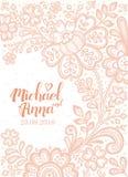Kartka z pozdrowieniami z kwiat koronką royalty ilustracja