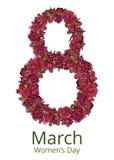 Kartka z pozdrowieniami z Marzec 8 Zdjęcie Royalty Free
