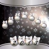 Kartka z pozdrowieniami z Nowym Rokiem 2013 ilustracji
