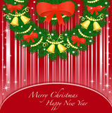 Kartka z pozdrowieniami z nowym rokiem i bożymi narodzeniami. Obrazy Royalty Free