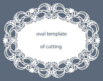 Kartka z pozdrowieniami z openwork owal granicą, papierowy doily pod tortem, szablon dla ciąć, poślubia zaproszenie, dekoracyjny  ilustracji
