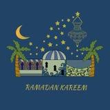 Kartka z pozdrowieniami z Ramadan kareem ilustracja wektor