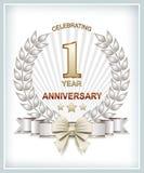 Kartka z pozdrowieniami z rocznicą Obrazy Stock