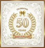 Kartka z pozdrowieniami z 50 rocznicą Zdjęcia Royalty Free