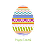 Kartka z pozdrowieniami z Wielkanocnym jajkiem Zdjęcie Royalty Free