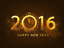 Kartka z pozdrowieniami z złotym tekstem dla nowego roku Zdjęcia Stock