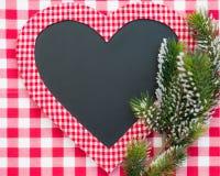 Kartki bożonarodzeniowa puste miejsce w kierowym kształcie Obraz Stock